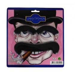 moustache et sourcils