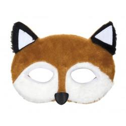masque renard peluche