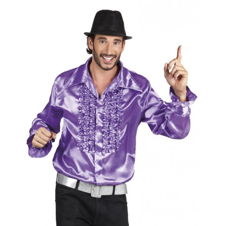chemise party violet
