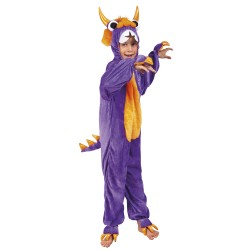 costume enfant monstre pourpre peluche