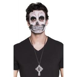 collier skull cross