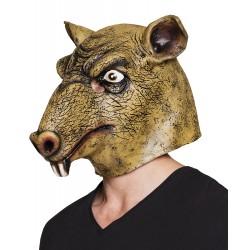 masque tête latex rat