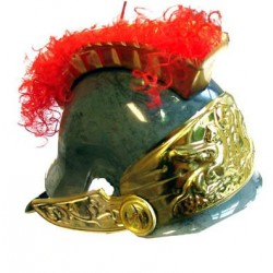 casque romain avec crête rouge